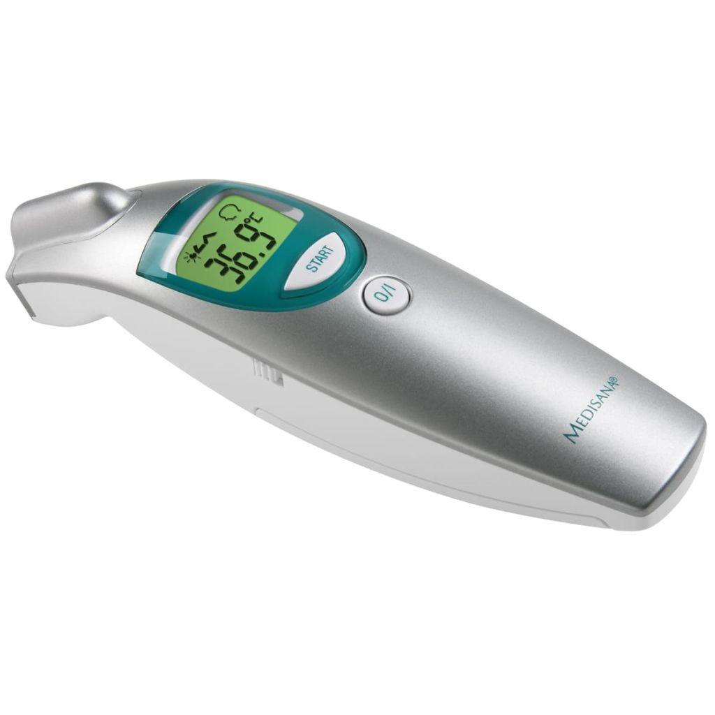 Ovaj profesionalni termometar izvrstan je alat pri određivanju temperature. Precizno mjeri temperaturu na udaljenostima do 5 cm / inča.S ovim termometrom možete očitati temperaturu preko ušiju ili čela