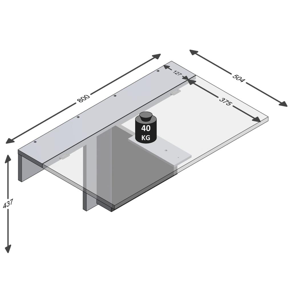 tako da i dalje služi za izlaganje vaših omiljenih ukrasnih predmeta. Sklopivi stol marke FMD napravljen je od ploče od iverice obložene melaminom u profinjenoj sjajnoj bijeloj boji