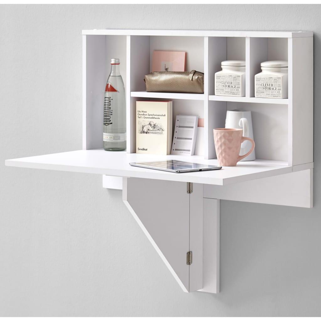 Zidni sklopivi stol s policom za izlaganje marke FMD vrlo je praktičan i štedi prostor. Bit će idealan za manje kuhinje