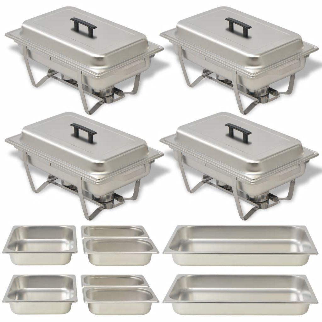 Ovaj set od 4 posude za posluživanje je veoma praktičan i savršen je za održavanje hrane toplom ili vrućom na dulje vrijeme. Idealan je za korištenje u ugostiteljstvu
