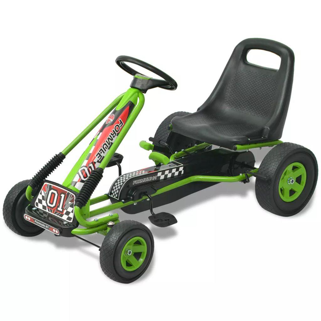 Vaša će se djeca jako zabavljati vozeći okolo ovaj go-kart s pedalama. Ovaj kart je prikladan za djecu u dobi preko 3 godine. Sjedalo je podesivo