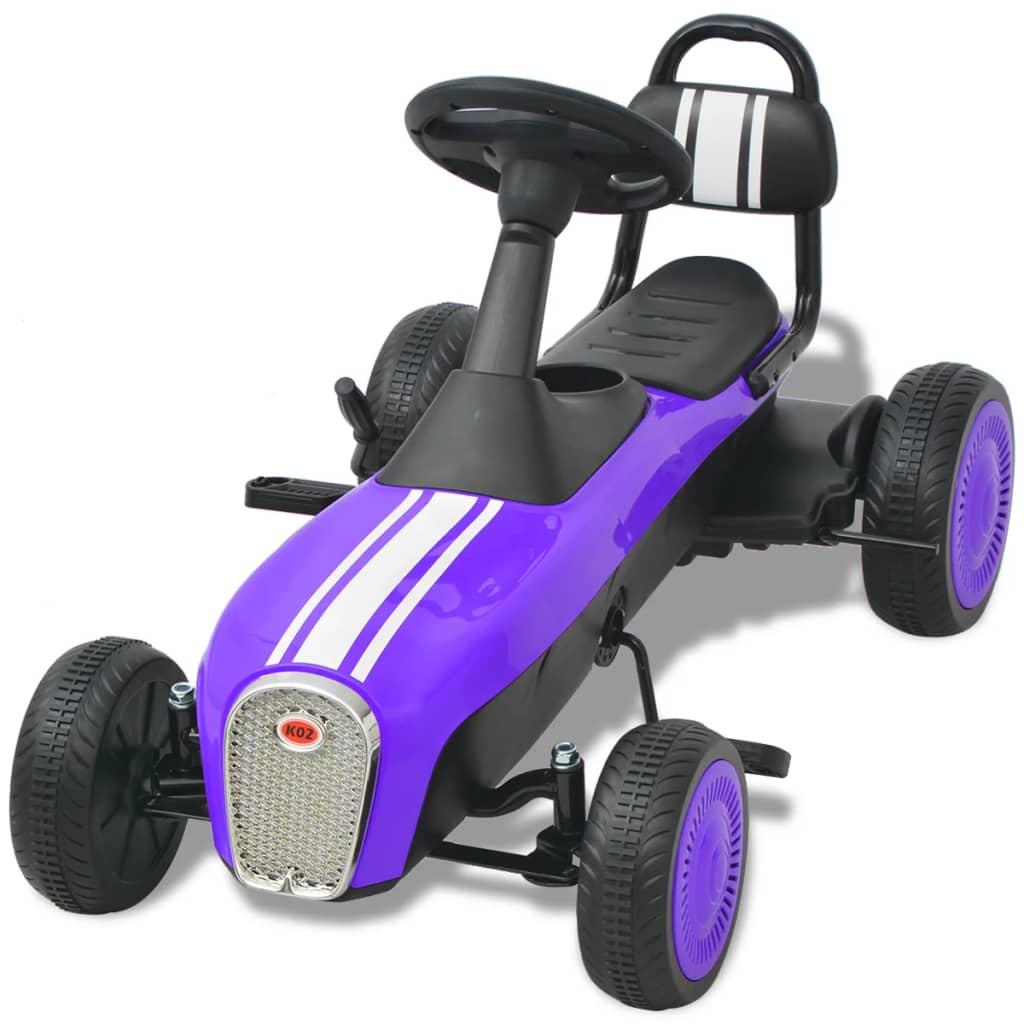 djeca se vrlo udobno voze. Automobil za karting može se voziti naprijed i natrag. Automobil je opremljen ručnom kočnicom