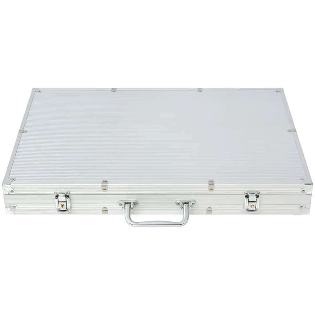 1 dealer button i 1000 laserskih žetona. Ovaj set se isporučuje u aluminijskom koferu.
