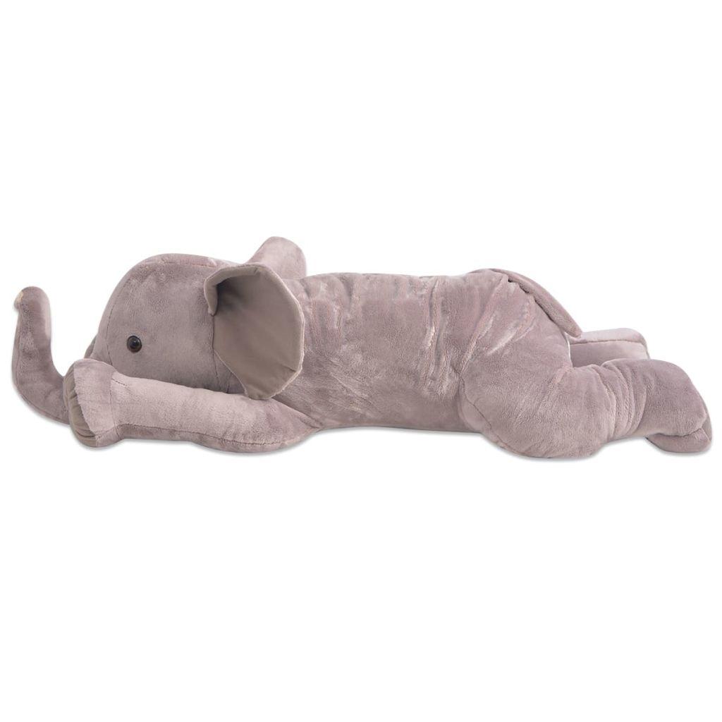 XXL plišanom igračkom slona sa živopisnim detaljima i impresivnim izgledom! Slon je također idealan kao igračka za maženje ili dekorativni komad. Visokokvalitetni pliš čini je mekom i udobnom na dodir. Zahvaljujući detaljnom dizajnu i izvrsnoj kvaliteti