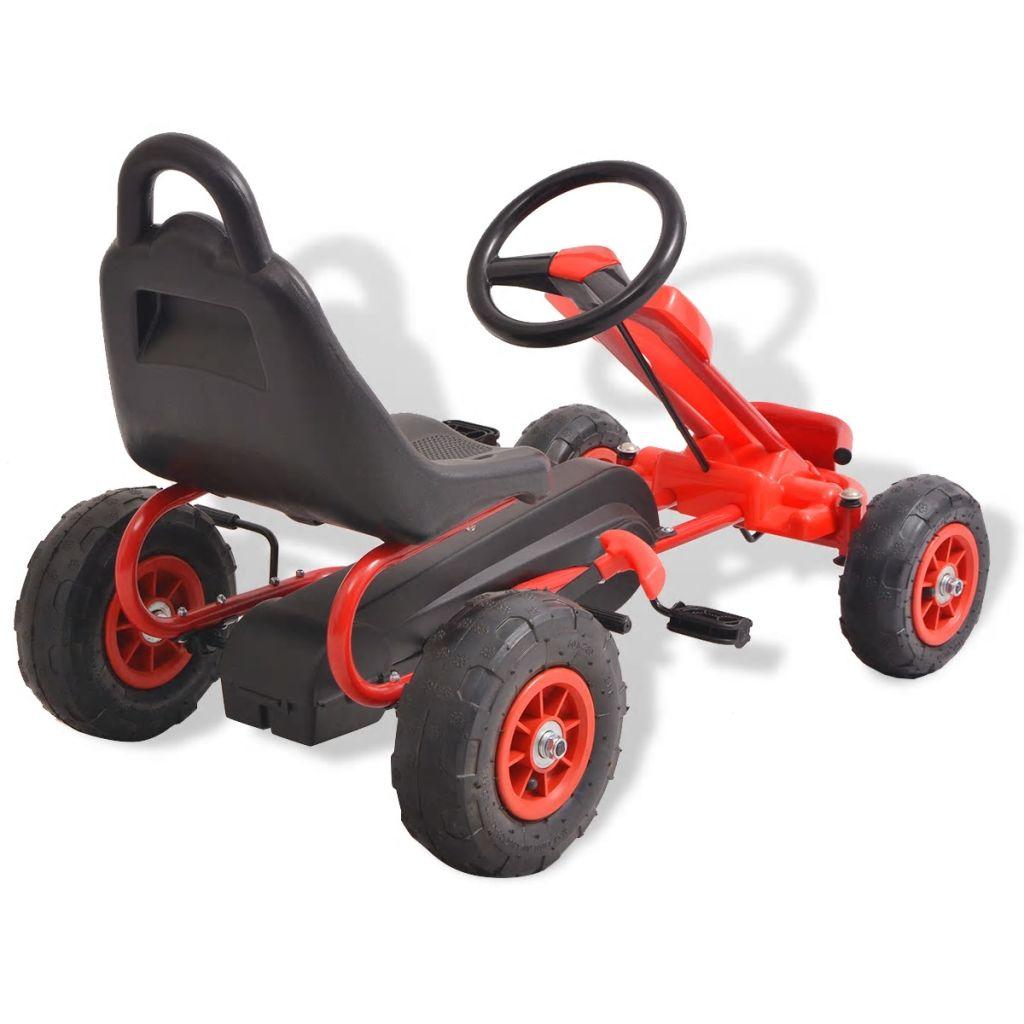 a vožnja je glatka i stabilna. Ručne kočnice mogu se upotrebljavati za sigurno zaustavljanje go-carta. Ovaj go-cart prikladan je za djecu u dobi od 3 godine i više.