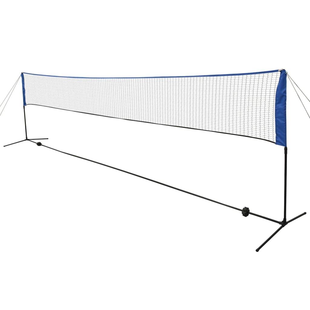 Ova rekreativna badminton mreža donosi zabavu klasičnih igara u vaše dvorište! Čvrsta mreža može se sastaviti za nekoliko minuta bez alata. Također je lako rastaviti i može se uredno pohraniti u uključenu 420D poliestersku torbicu zajedno sa svim priborom. Mreža je dvostruko vezana za okvir za stabilnost