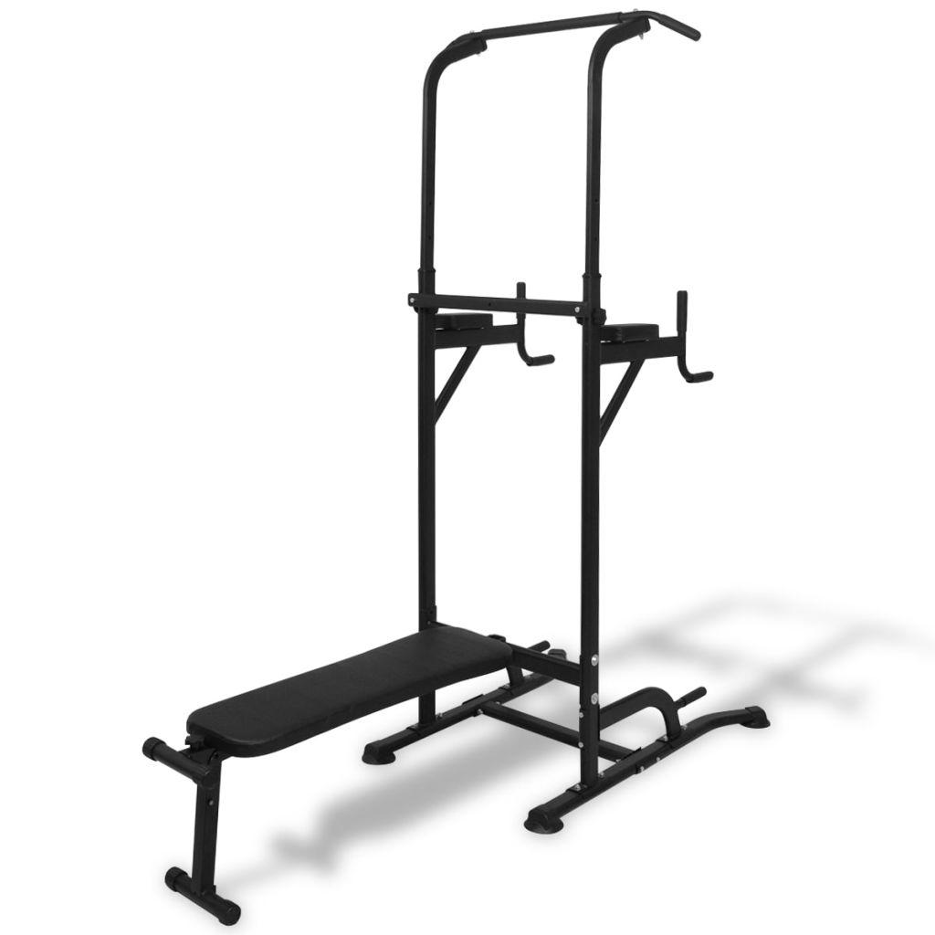 Ova multifunkcionalna sprava za vježbanje s klupom za trbušnjake dizajnirana je za širok raspon vježbi