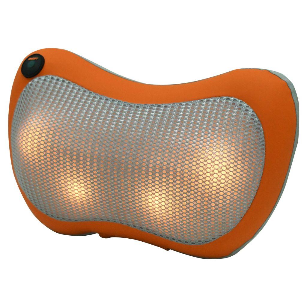 Ovaj masažni jastuk opremljen je s četiri snažna zgloba za duboko masiranje i funkcijom grijanja a okretanje masažnih zglobova može automatski promijeniti smjer. Ovaj masažer idealan je za poticanje krvne cirkulacije i učinkovito ublažavanje boli i umora. Sve funkcije mogu se odabrati jednim gumbom. Ovaj masažer ima ergonomski dizajn