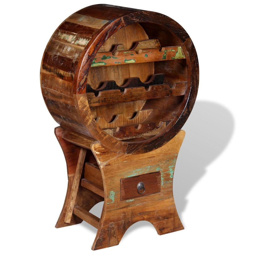 Ovaj stalak za vino u antiknom stilu je savršen za sve ljubitelje vina. Ovaj elegantni vinski stalak