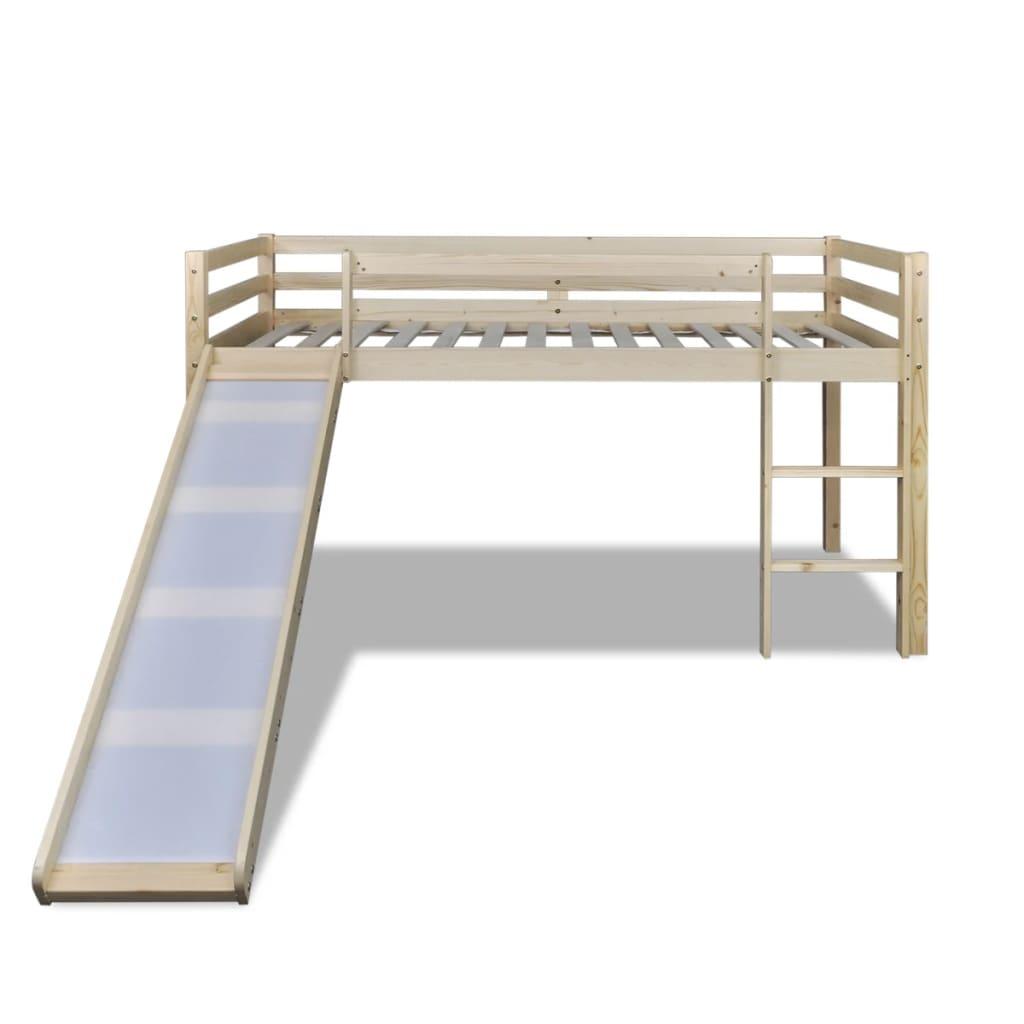 izrađen je od masivnog borovog drva i namijenjen je zabavi kao i optimizaciji prostora. Krevet je opremljen zaštitnom ogradom na oba ruba kreveta kako bi se spriječila mogućnost pada djeteta. Prostor ispod ležišta može se koristiti za igru