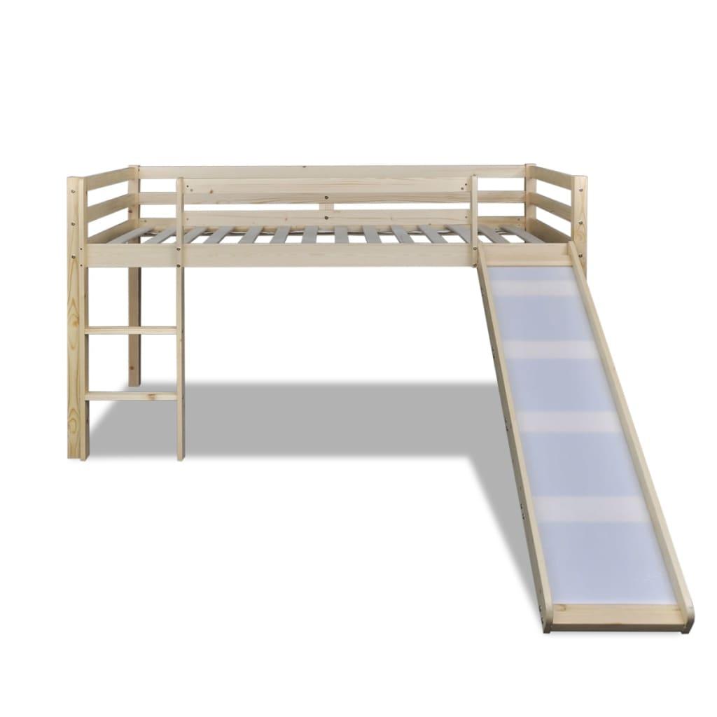 učenje ili pohranu. Uz krevet je uvršten i zabavni tobogan. Tobogan i ljestve mogu se montirati na lijevoj ili desnoj strani.Krevet je pogodan za madrac od 90 x 200 cm. Napominjemo da madrac nije uvršten u dostavu.