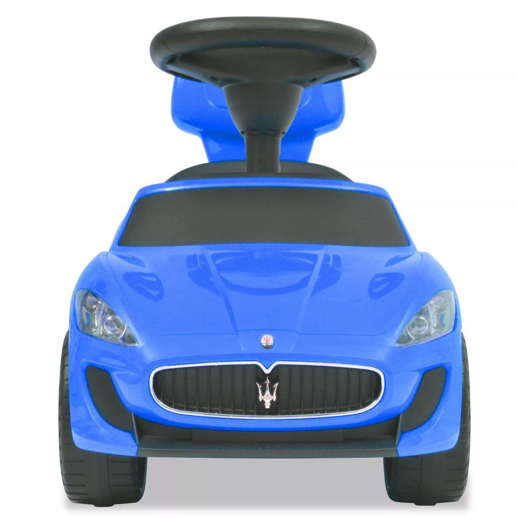 ovaj autić je vrlo stabilan i siguran. Pritisnite tipke na upravljaču i glazba će svirati. Imate izbor od 6 pjesama za dodatnu zabavu tijekom vožnje. Autić ima sklopivi naslon koji se može skladištiti ispod sjedala. Maserati logo i ispisana marka Maserati su zaštitni znakovi tvrtke Maserati i koriste se pod licencom. Pogodan je za djecu od 2 godine i više. Potrebno je da ga montira odrasla osoba.