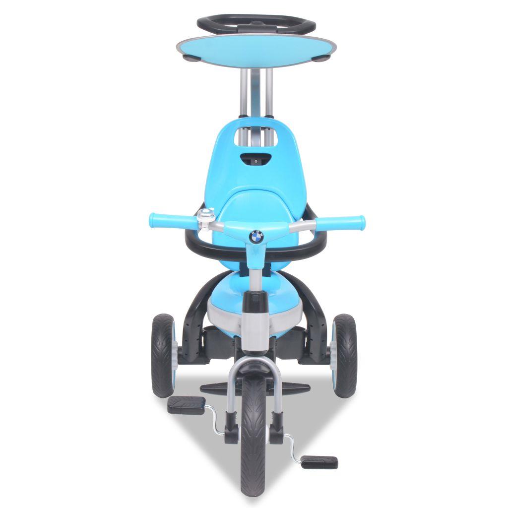 što roditeljima omogućuje bolju kontrolu nad triciklom. Šipka za guranje također se može potpuno ukloniti kad dijete bude dovoljno veliko da samo upravlja triciklom. Šipka za guranje također se može postaviti u 3 kuta. Tricikl ima odvojivi gornji naslon