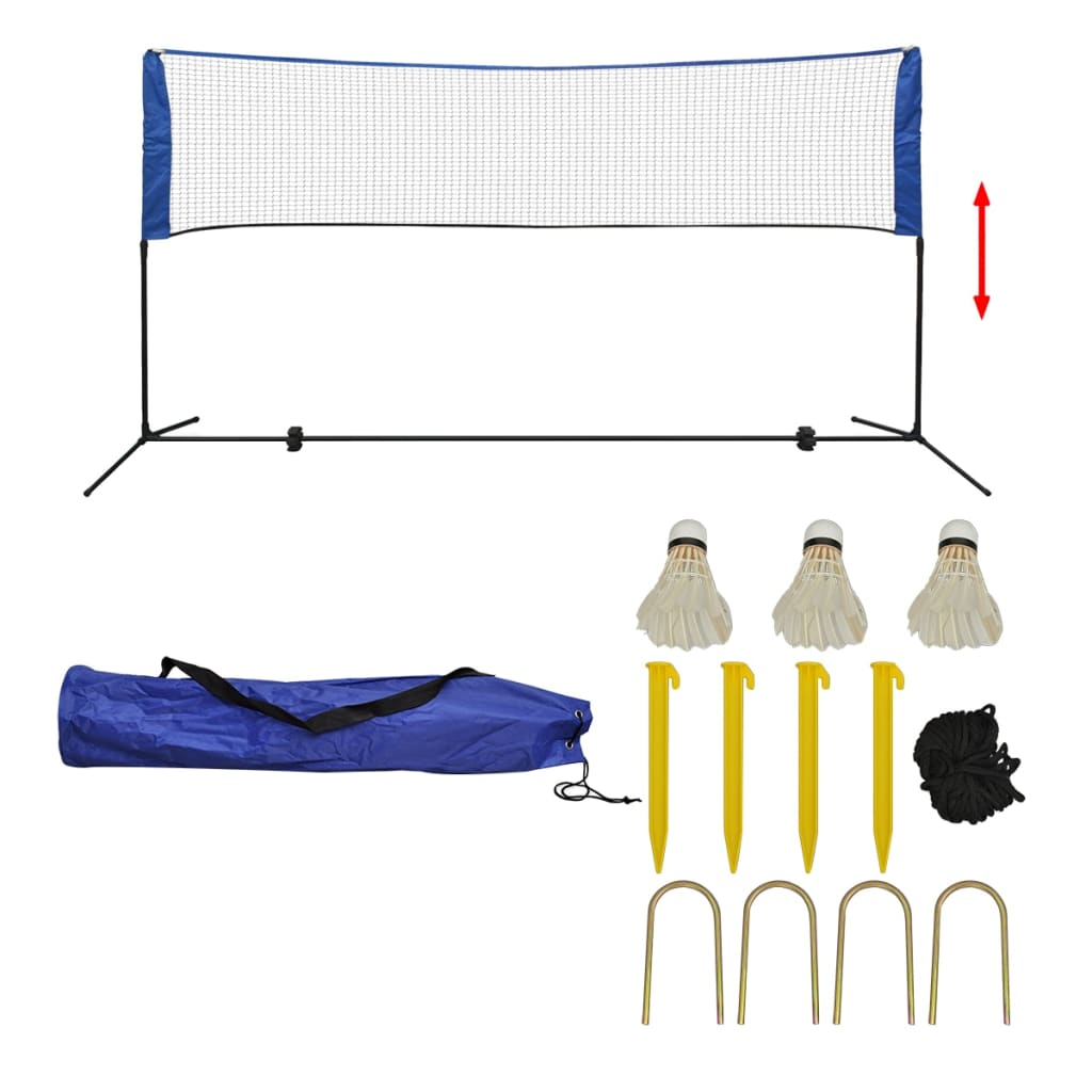 Ovaj set za rekreacijski badminton s mrežom i lopticama
