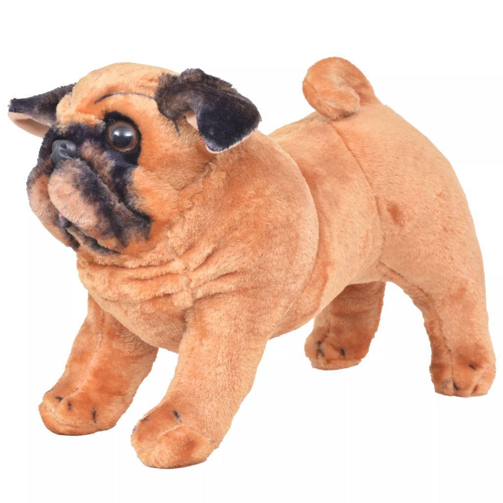 Vrijeme za igru vašem djetetu bit će puno zabavnije uz ovu vjerodostojnu mekanu igračku mopsa! Ova mekana i mazna igračka psa s detaljnim značajkama sastoji se od čvrstog čeličnog okvira i visokokvalitetne plišane tkanine. Naš plišani mops bit će sjajan prijatelj svakom djetetu!
