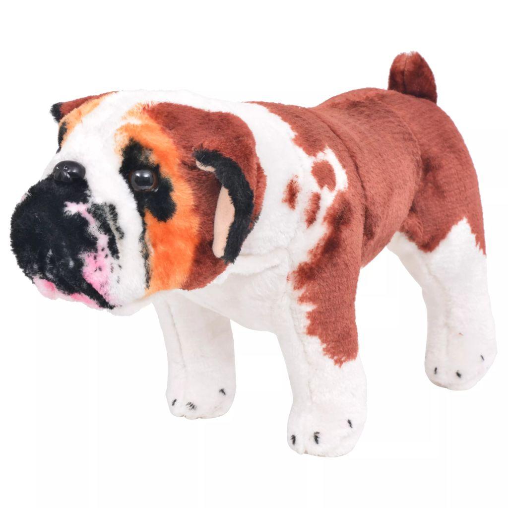 Vrijeme za igru vašem djetetu bit će puno zabavnije uz ovu vjerodostojnu mekanu igračku buldoga! Ova mekana i mazna igračka psa s detaljnim značajkama sastoji se od čvrstog čeličnog okvira i visokokvalitetne plišane tkanine. Naš plišani buldog bit će sjajan prijatelj svakom djetetu!