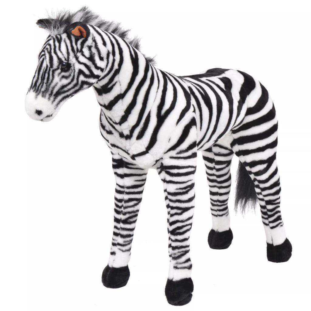 Vrijeme za igru vašem djetetu bit će puno zabavnije uz ovu vjerodostojnu mekanu igračku zebre! Ova mekana i mazna igračka s detaljnim značajkama sastoji se od čvrstog čeličnog okvira i visokokvalitetne plišane tkanine. Igračka ima nosivost do 100 kg