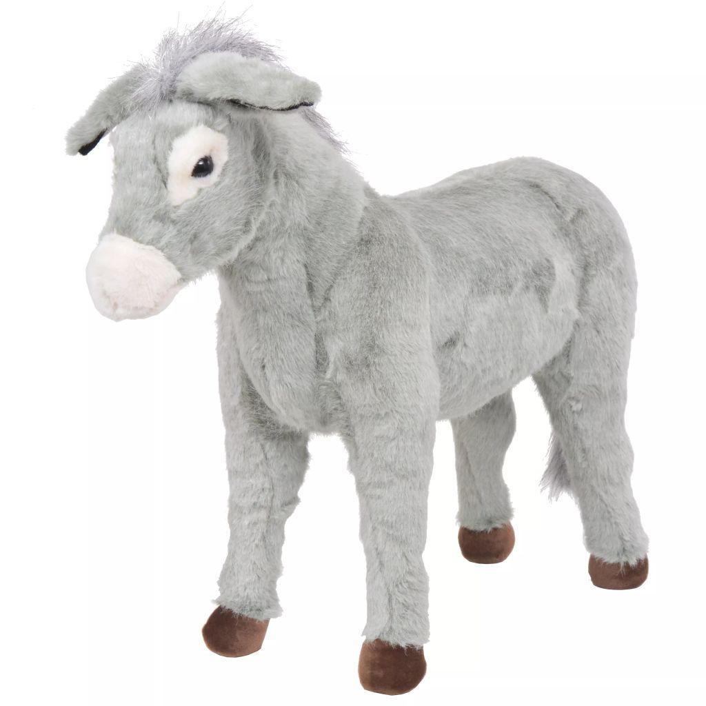 Vrijeme za igru vašem djetetu bit će puno zabavnije uz ovu vjerodostojnu mekanu igračku magarca! Ova mekana i mazna igračka s detaljnim značajkama sastoji se od čvrstog čeličnog okvira i visokokvalitetne plišane tkanine. Igračka ima nosivost do 100 kg