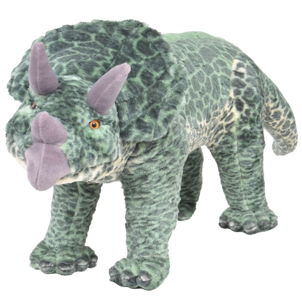Vrijeme za igru bit će puno zabavnije s ovom vjerodostojnom mekanom igračkom dinosaurom! Ova mekana i mazna igračka s detaljnim karakteristikama sastoji se od čvrstog čeličnog okvira i visokokvalitetne plišane tkanine. Igračka ima nosivost do 100 kg