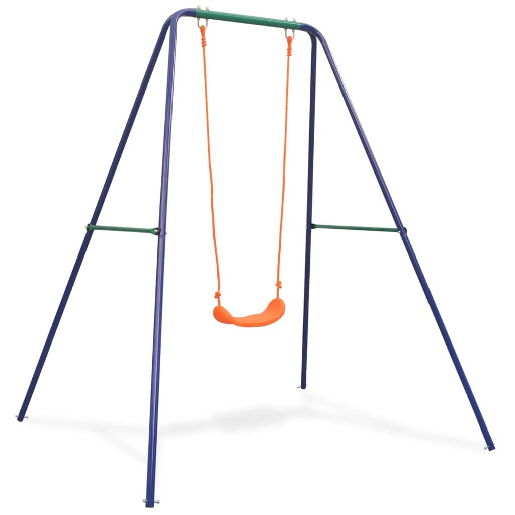 Igranje na ovoj ljuljački će vašem djetetu postati omiljena aktivnost na otvorenom. Zahvaljujući čvrstom čeličnom okviru i plastičnom sjedalu