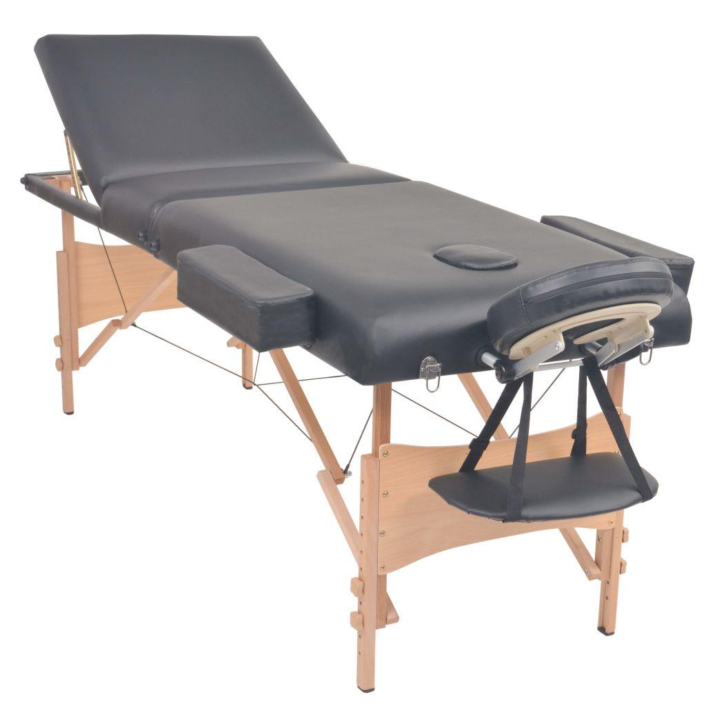 idealan je za profesionalnu i osobnu uporabu. Ovaj stol za masažu ima čvrst drveni okvir i tapeciran je visokokvalitetnom umjetnom kožom. Njegova luksuzna
