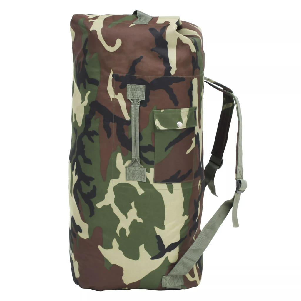 Naša udobna i praktična torba u vojničkom stilu idealan je pratitelj za putnike