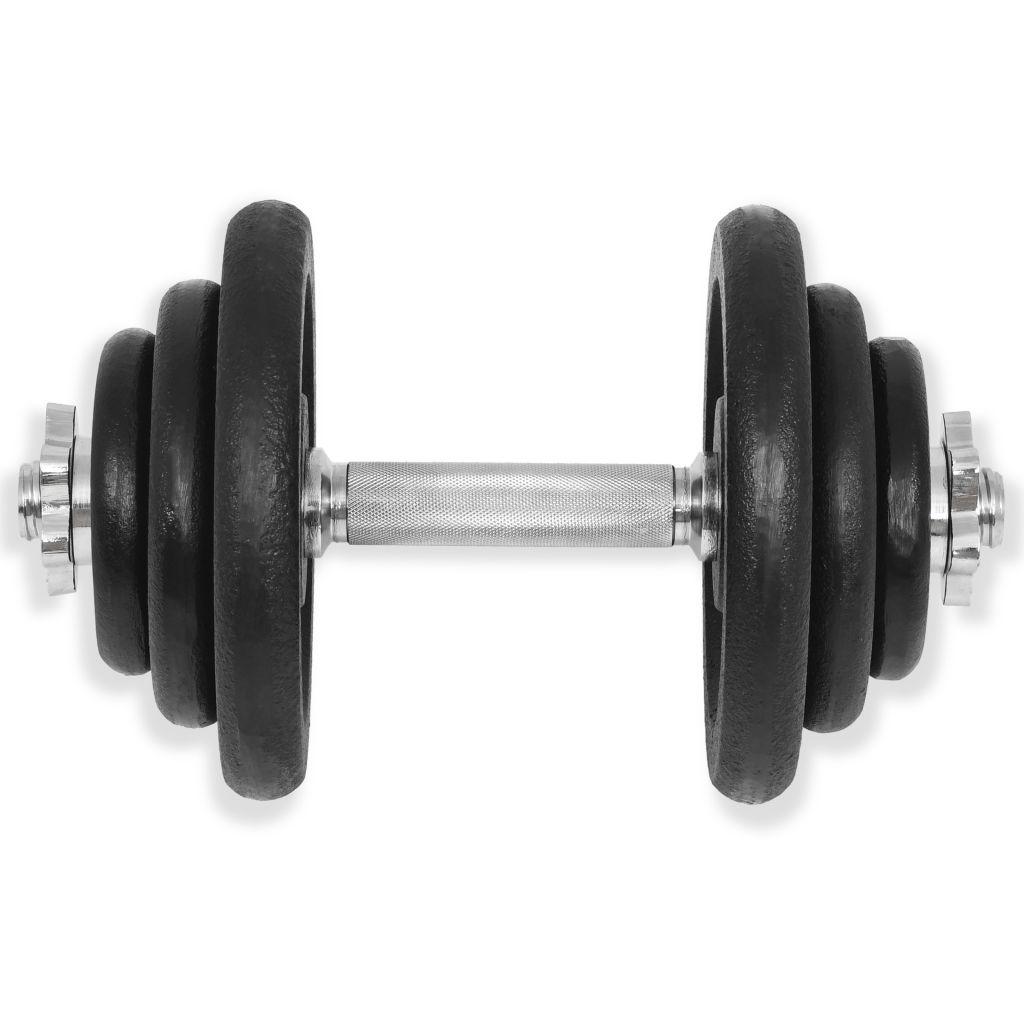 tricepsa i leđnih mišića. Uključuje četiri ploče od 5 kg