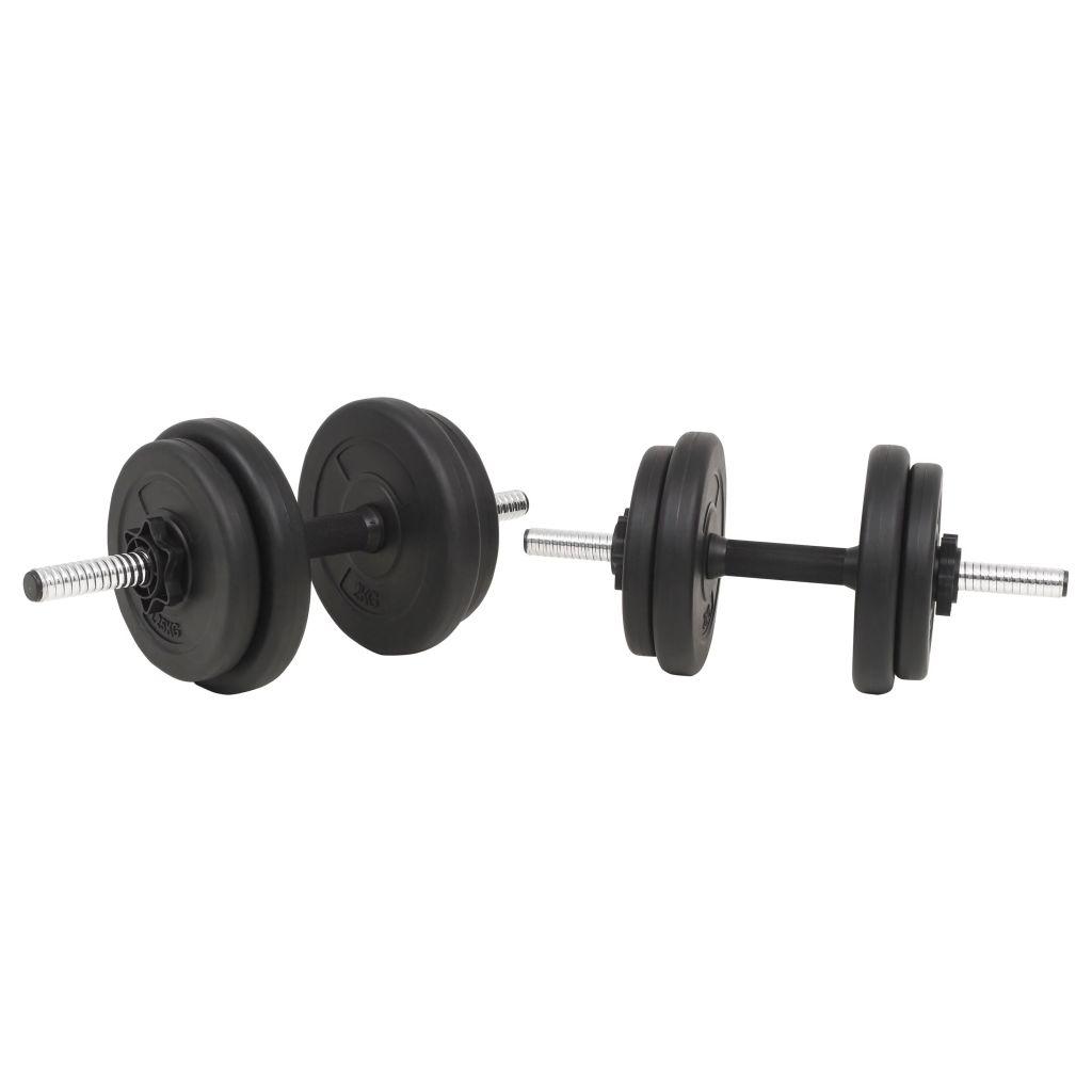 tricepse i leđne mišiće. Uključuje dvije ploče od 5 kg