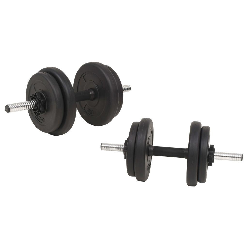 tricepse i leđne mišiće. Uključuje dvije ploče od 10 kg