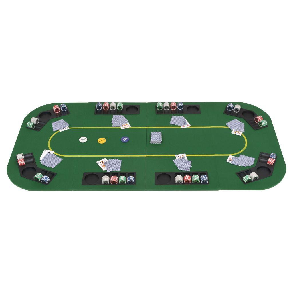 podlogu za poker možete lako sklopiti i spremiti. Jednostavno stavite našu sklopivu površinu stola za poker na svoj blagovaonski stol i počnite igrati! Napomena: žetoni za poker i igraće karte nisu uključeni.