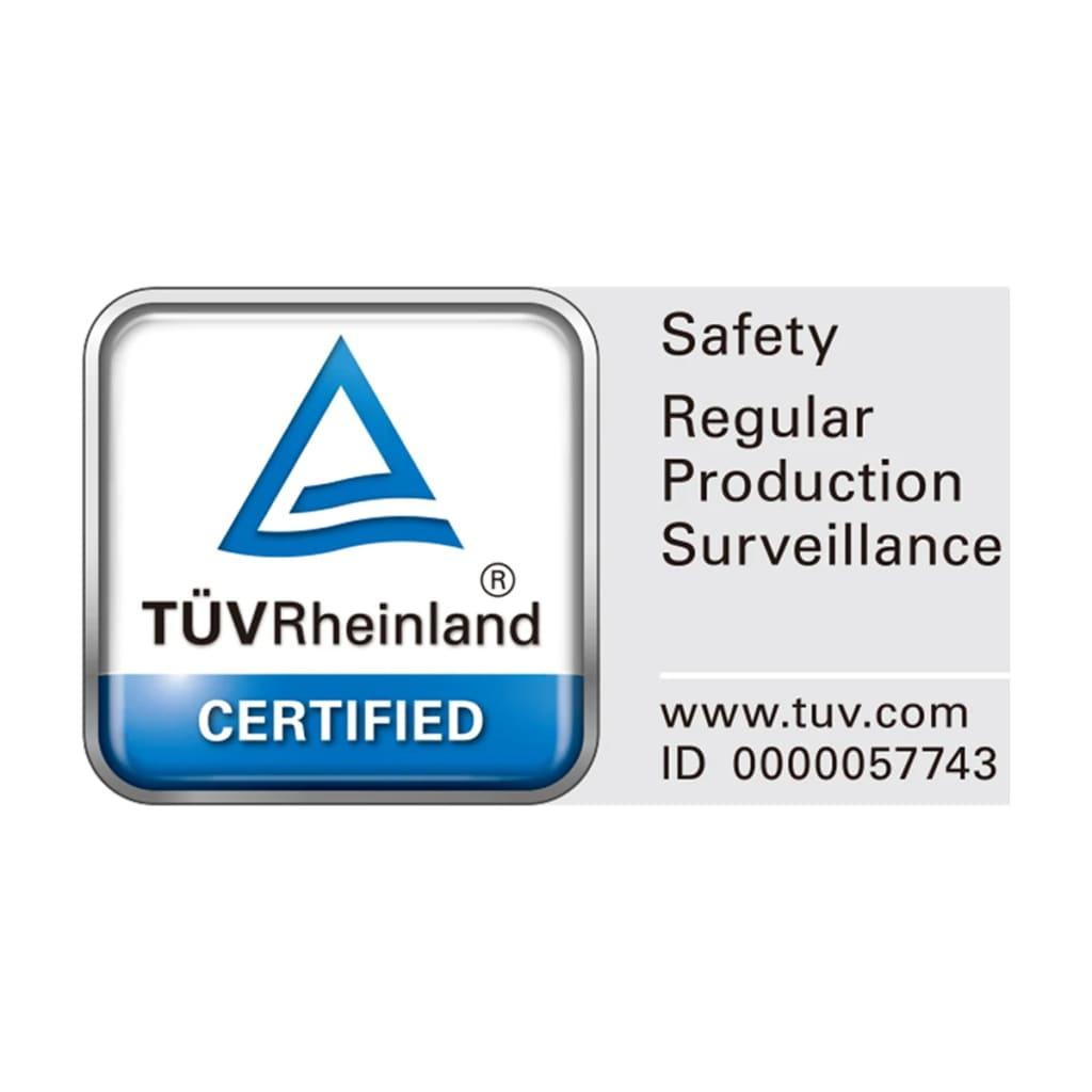 neke rupe su izbušene a druge je potrebno bušiti tijekom montaže. Certifikat TÜV:Ovaj proizvod testiran je od strane ovlaštenog laboratorija za ispitivanje TÜV Rheinland.Broj testne oznake: 0000057743