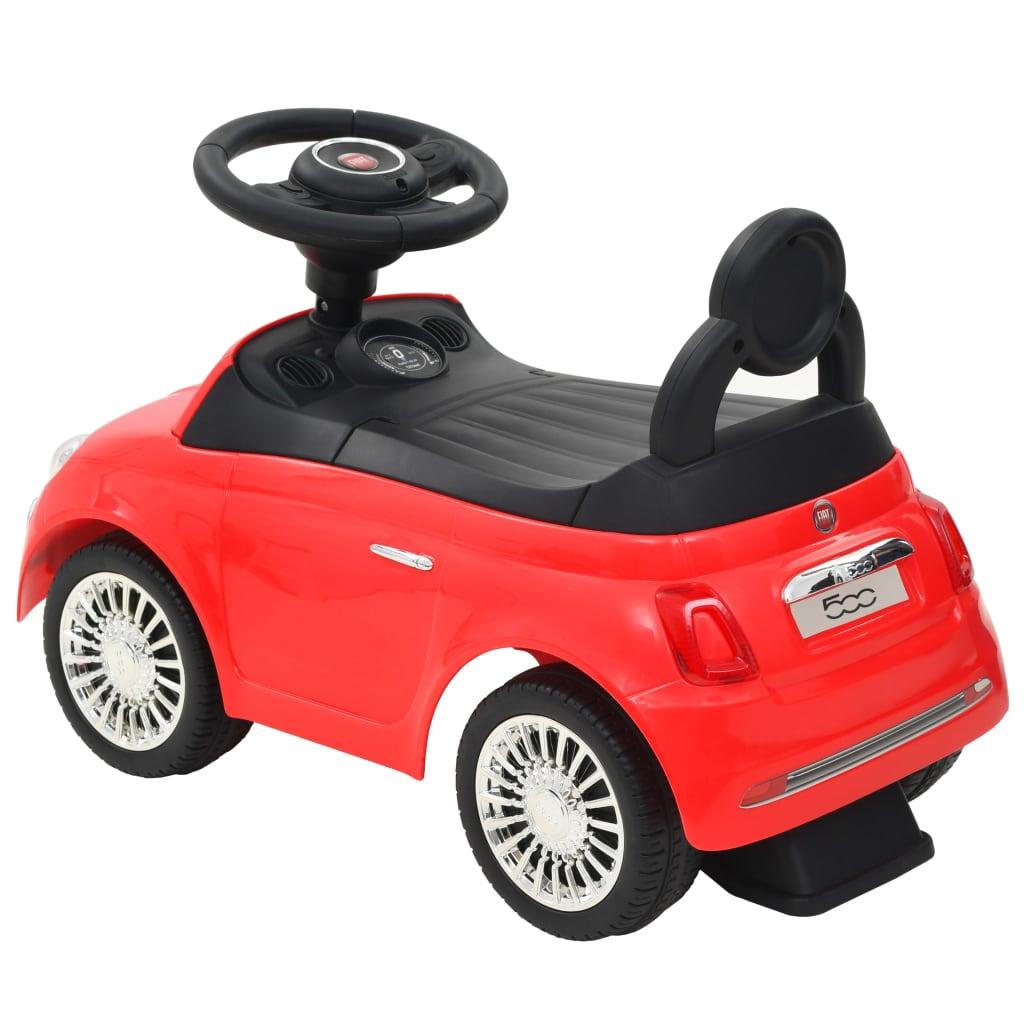 """prekrasna je igračka koja će vašoj djeci pružiti vrhunski """"gran turismo"""" doživljaj. Službeno je licenciran od Fiata. Igračka automobil je napravljen od visokokvalitetnih materijala i prava je atrakcija u svijetlo crvenoj boji. Automobil ima upravljač"""