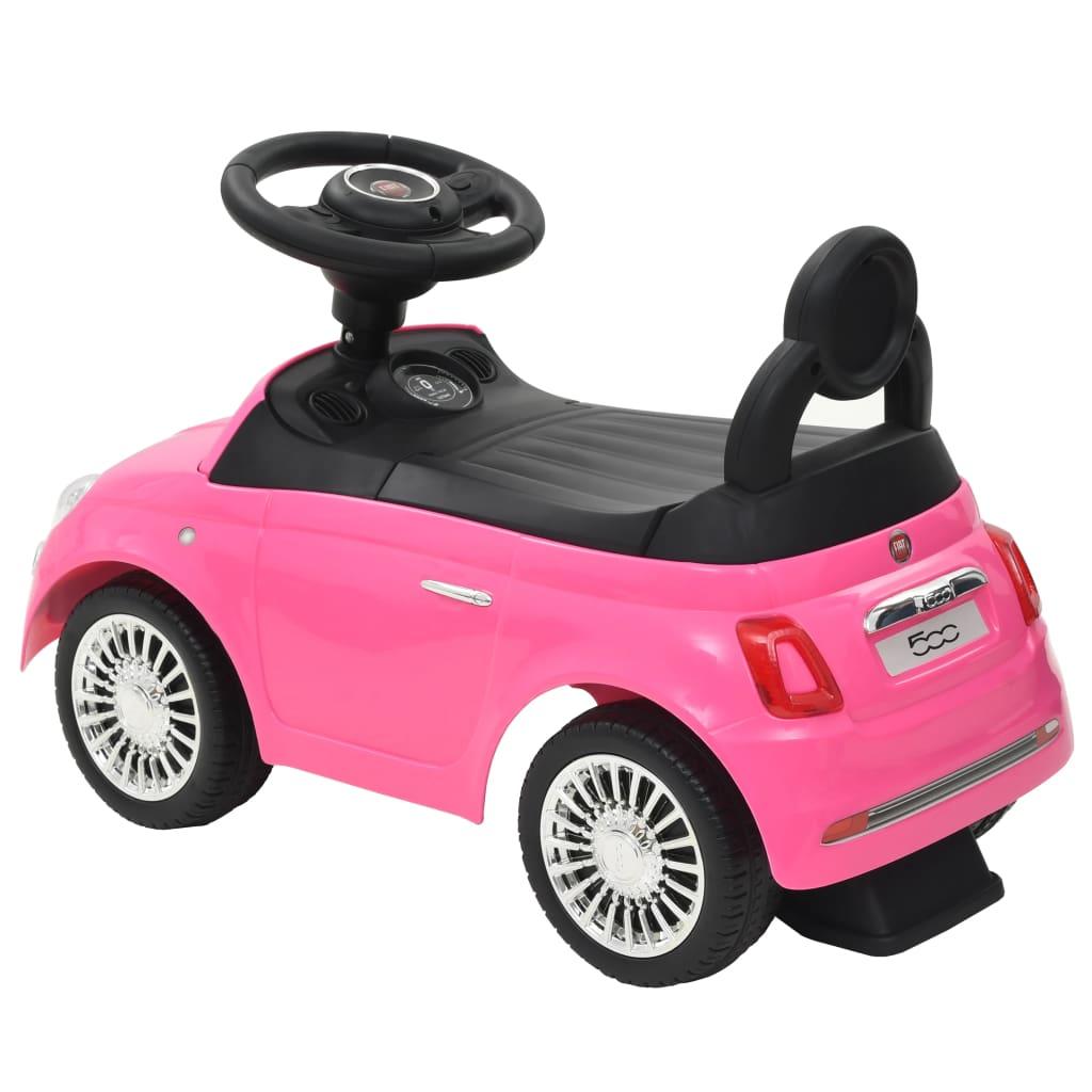 """prekrasna je igračka koja će vašoj djeci pružiti vrhunski """"gran turismo"""" doživljaj. Službeno je licenciran od Fiata. Igračka automobil je napravljen od visokokvalitetnih materijala i prava je atrakcija u svijetlo ružičastoj boji. Automobil ima upravljač"""