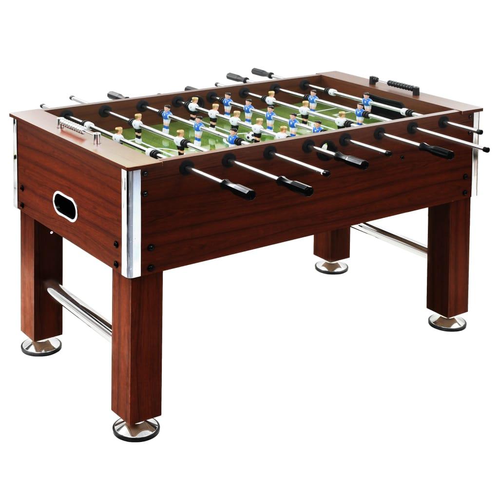 Organizirajte profesionalno igranje nogometa u udobnosti vlastitog doma s ovim stolom za nogomet. Pogodan je za natjecanje jedan-na-jedan ili grupnu igru. Stol je izrađen od MDF-a i ima stabilne noge