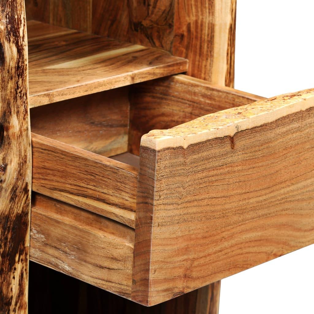 a prekrasni drveni godovi čine svaki komad namještaja jedinstvenim i pomalo drukčijim od sljedećeg. Živi rubovi drva koji prate prirodni oblik stabla povećavaju ljepotu ormarića. Ovaj stalak za vino sadrži 6 pretinaca za boce