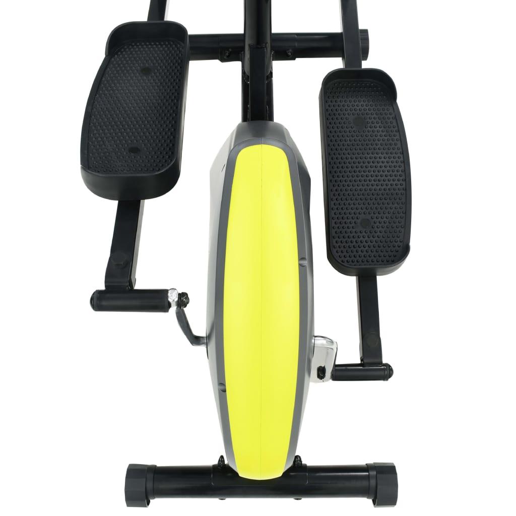 tako da možete upotrebljavati svoj tablet ili gledati film tijekom vježbanja. Kućni trenažer ergonomski je dizajniran. Njegove dvije ručke pružaju vam dovoljno prostora za optimalan hodajući položaj i istovremeno nude dodatnu vježbu za gornji dio tijela. Velike