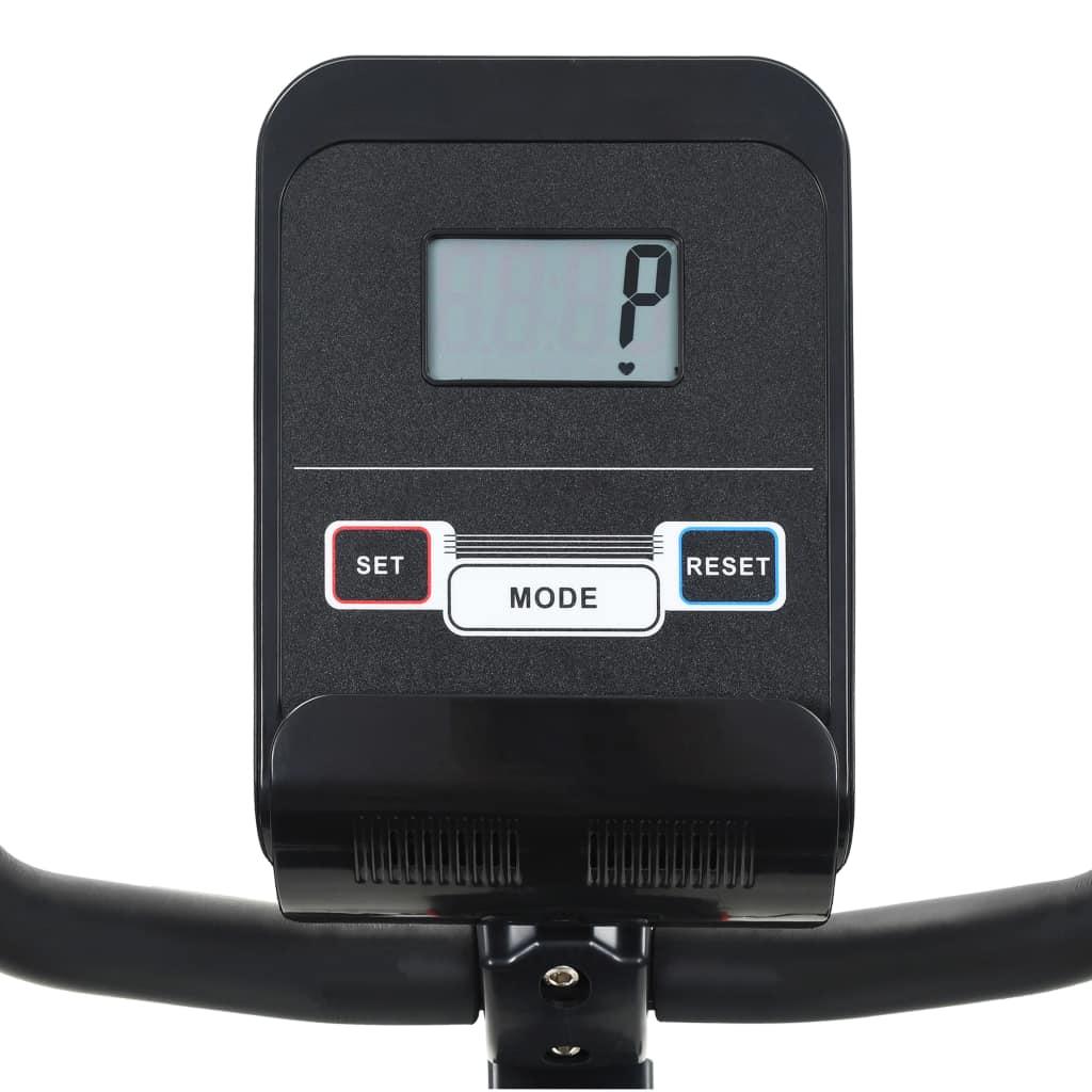 tako da možete upotrebljavati tablet ili gledati film tijekom vježbanja. Bicikl za vježbanje ergonomski je dizajniran. Debelo podstavljeno sjedalo pruža vam udobniju vožnju i može se podesiti za najudobniji položaj pomoću opružne ručice. Neklizeće pedale omogućuju optimalan prijenos snage s nogu na pedale. Trake pedala spriječit će slučajno iskliznuće stopala s pedala. Magnetni sustav otpora i precizno uravnotežen zamašnjak slobodni su od trenja radi glatkog i tihog rada bez potrebe za održavanjem. Transportni valjci olakšavaju premještanje bicikla za vježbanje. Podni poravnači čine kućni trener stabilnijim. Kardio oprema mora se sastaviti.