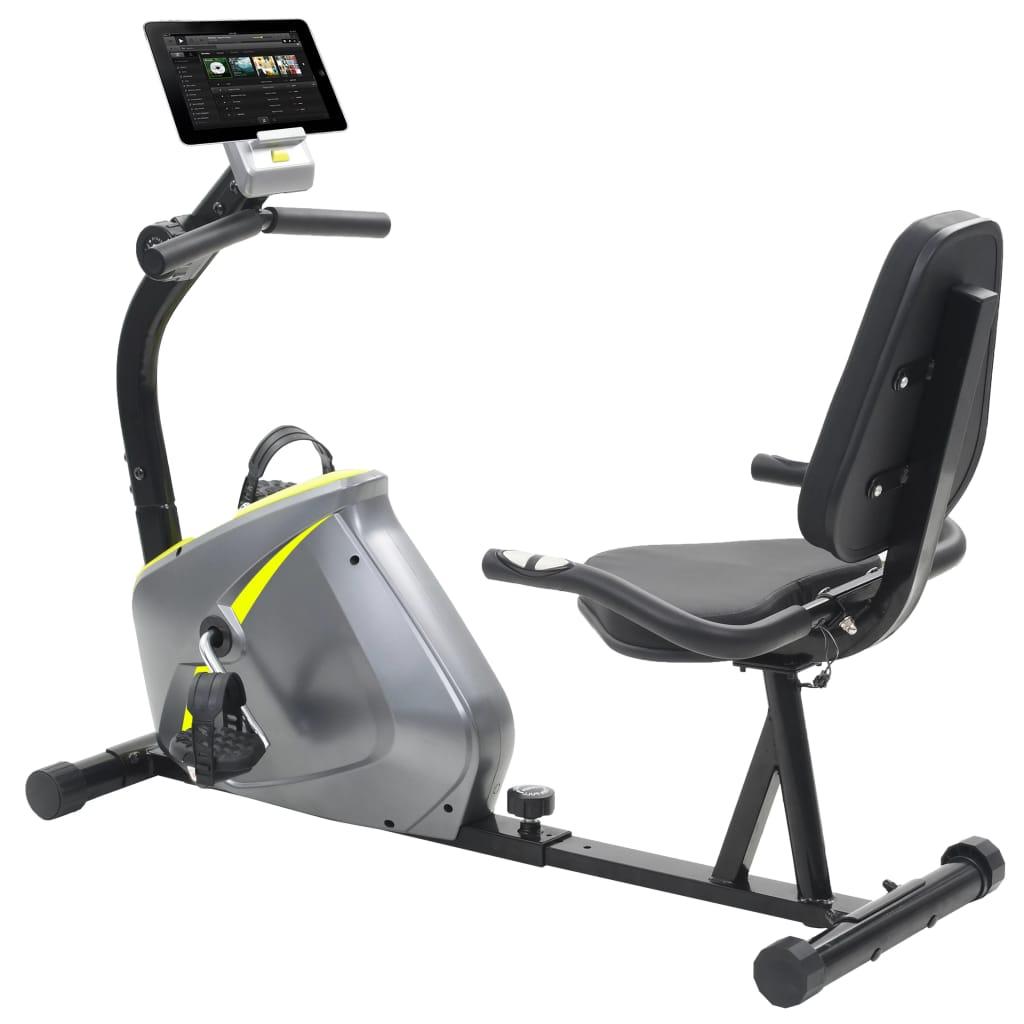 Ovaj čvrsti magnetski ležeći bicikl za vježbanje bit će odličan izbor za vježbanje kod kuće. Opremljen zamašnjakom s 8 mogućih razina otpora