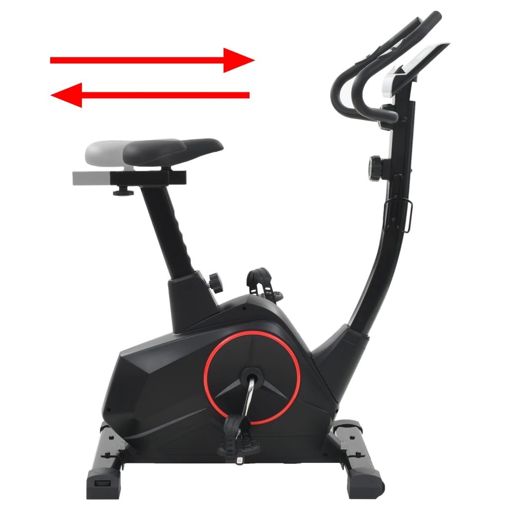 brojaču kilometara i puls. računalo Zaslon ima tableta držač tako da možete koristiti svoj tablet ili gledati film tijekom treninga. Bicikl za vježbanje je ergonomski oblikovan. Sjedalo se može namjestiti vodoravno i okomito. Pneumatici protiv klizanja omogućuju optimalan prijenos snage od nogu do pedala. Trake na pedalama će držati noge od slučajnog klizanja s pedala. Sustav magnetskog otpora i precizno uravnotežen zamašnjak bez trenja su za glatki