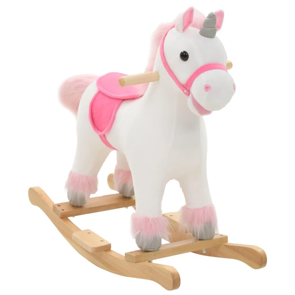 Vaša djeca rado će se igrati s našim slatkim jednorogom za ljuljanje! Bit će njihova omiljena igračka i donijet će udobnost i užitak. Životinja za ljuljanje ima snažan metalni okvir