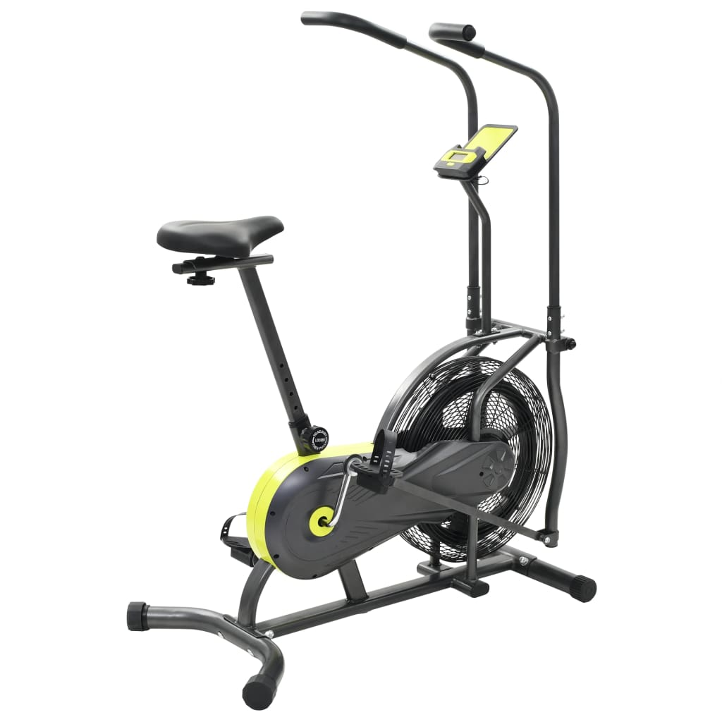 Zračni bicikl je odlična opcija za svakog zaljubljenika u fitness koji je u potrazi za potpunom tjelovježbom. Opremljen ventilatorom promjera 40 cm i podesivim sjedalom