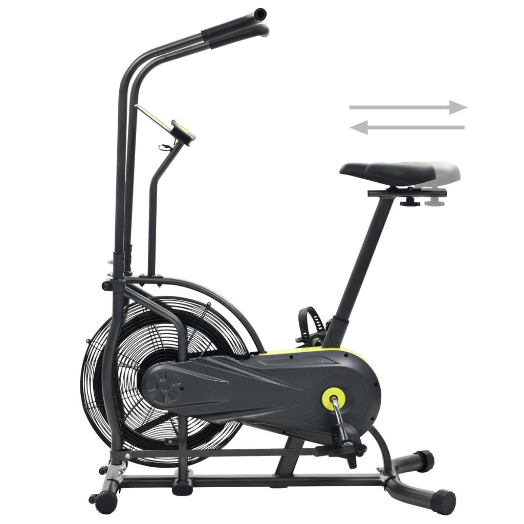 pomažući vam da istovremeno vježbate gornji i donji dio tijela. Bicikl za vježbanje sa sustavom otpora zraka ima prednost da je u mogućnosti pružiti što više otpora kao što možete podnijeti. Što više okrećete pedale