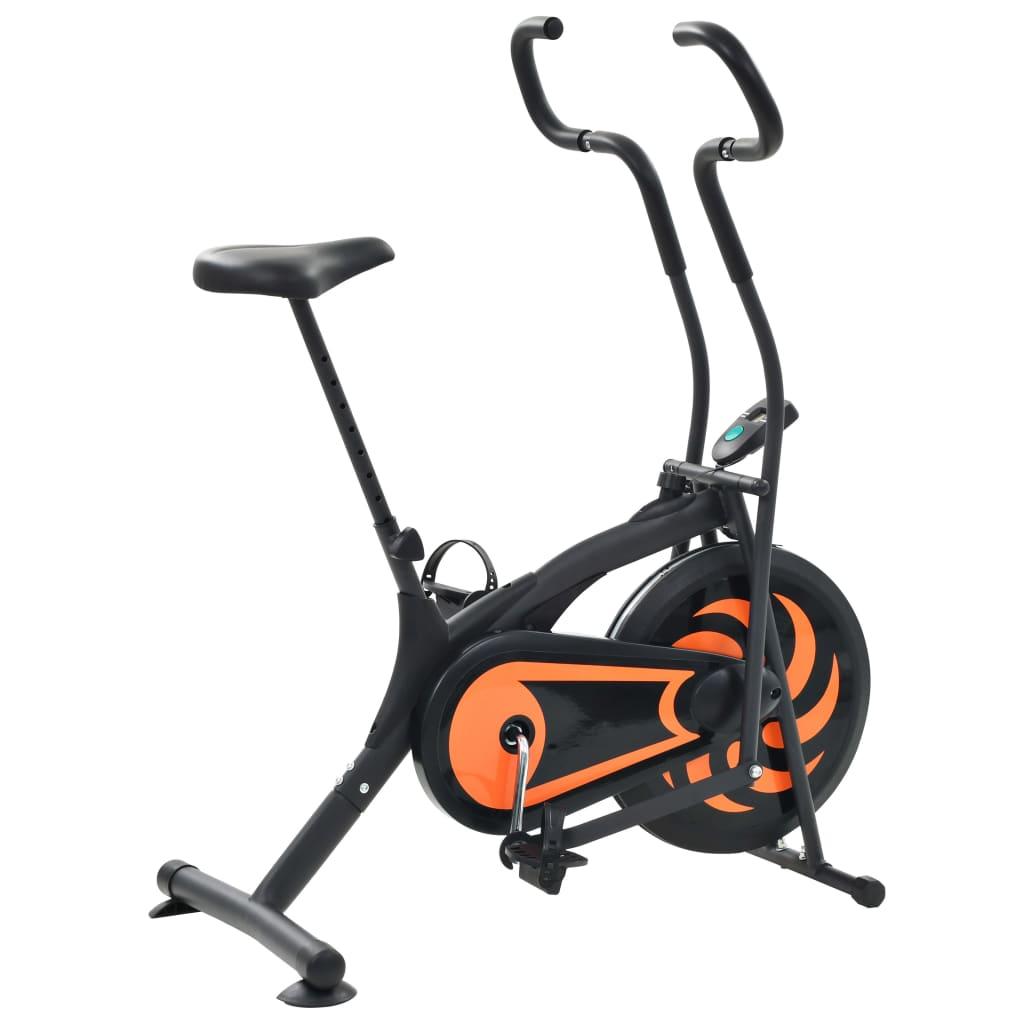 ovaj bicikl za vježbanje omogućit će vam učinkovito vježbanje. Bicikl za vježbanje sa sustavom zračnog otpora ima prednost pružanja onoliko otpora koliko možete podnijeti. Možete pratiti svoju učinkovitost na LCD zaslonu koji prikazuje informacije o proteklom vremenu