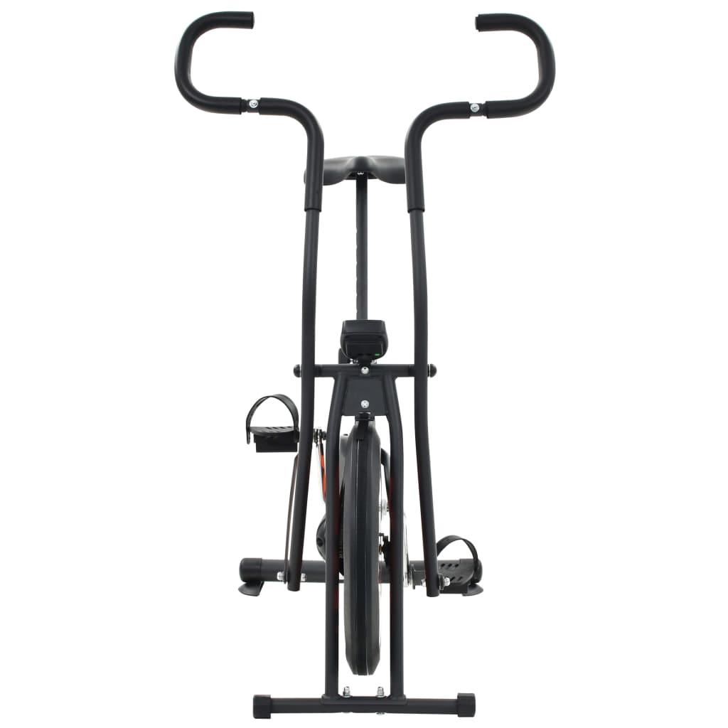 udaljenosti i potrošenim kalorijama. Bicikl za vježbanje ergonomski je dizajniran. Sjedalo se može okomito podešavati. Neklizeće pedale omogućuju optimalan prijenos snage s vaših nogu na pedale. Remeni pedala spriječit će slučajno klizanje vaših stopala s pedala. Zračni bicikl potrebno je sastaviti.