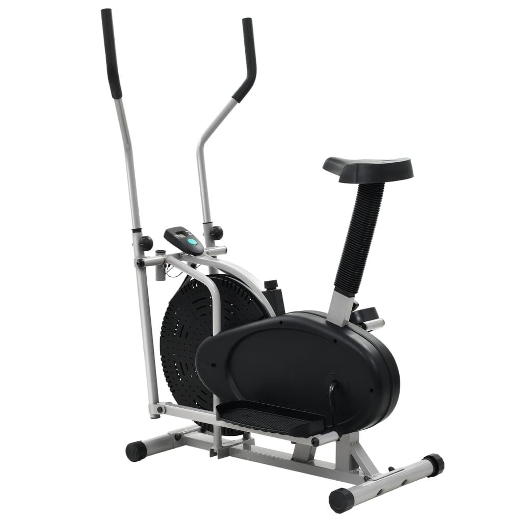 ovaj bicikl za vježbanje omogućit će vam učinkovito vježbanje. Glatki i tihi remenski prijenos sprave oslobađa vas dosadne buke tijekom vježbanja. Možete pratiti svoju učinkovitost na LCD zaslonu koji prikazuje informacije o proteklom vremenu