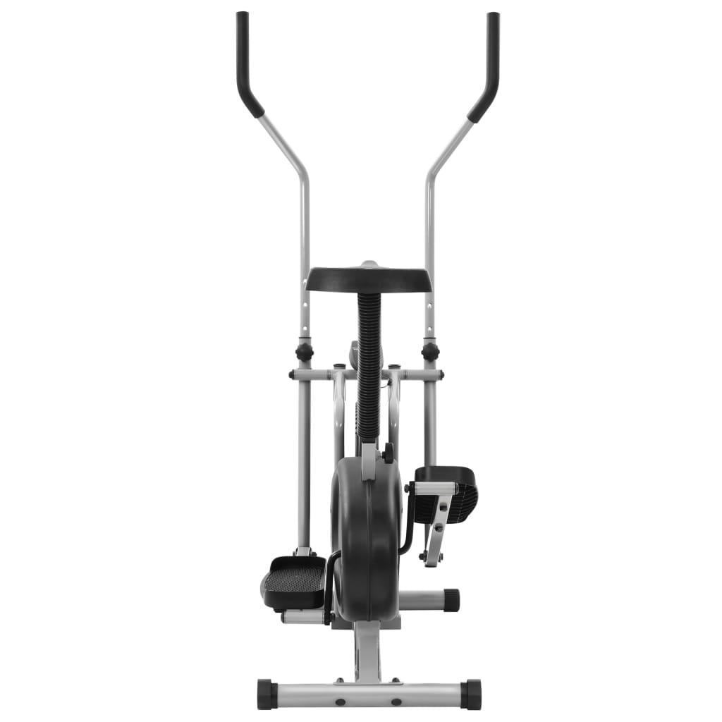 udaljenosti i potrošenim kalorijama. Sprava za vježbanje ergonomski je dizajnirana. Sjedalo se može podesiti okomito. Dvije ručke pružaju vam dovoljno prostora za optimalan položaj za hodanje i omogućuju dodatno vježbanje gornjeg dijela tijela u isto vrijeme. Neklizeće pedale omogućuju optimalan prijenos snage s vaših nogu na pedale. Transportni valjci olakšavaju pomicanje sprave. Zračni bicikl potrebno je sastaviti.
