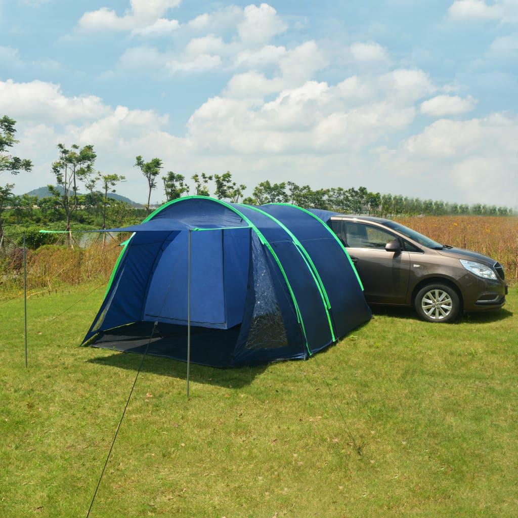 Ovaj sjajni šator za kampiranje savršen je izbor za svaku kampersku pustolovinu! Samo postavite šator prema uputama i zatim parkirajte automobil straga