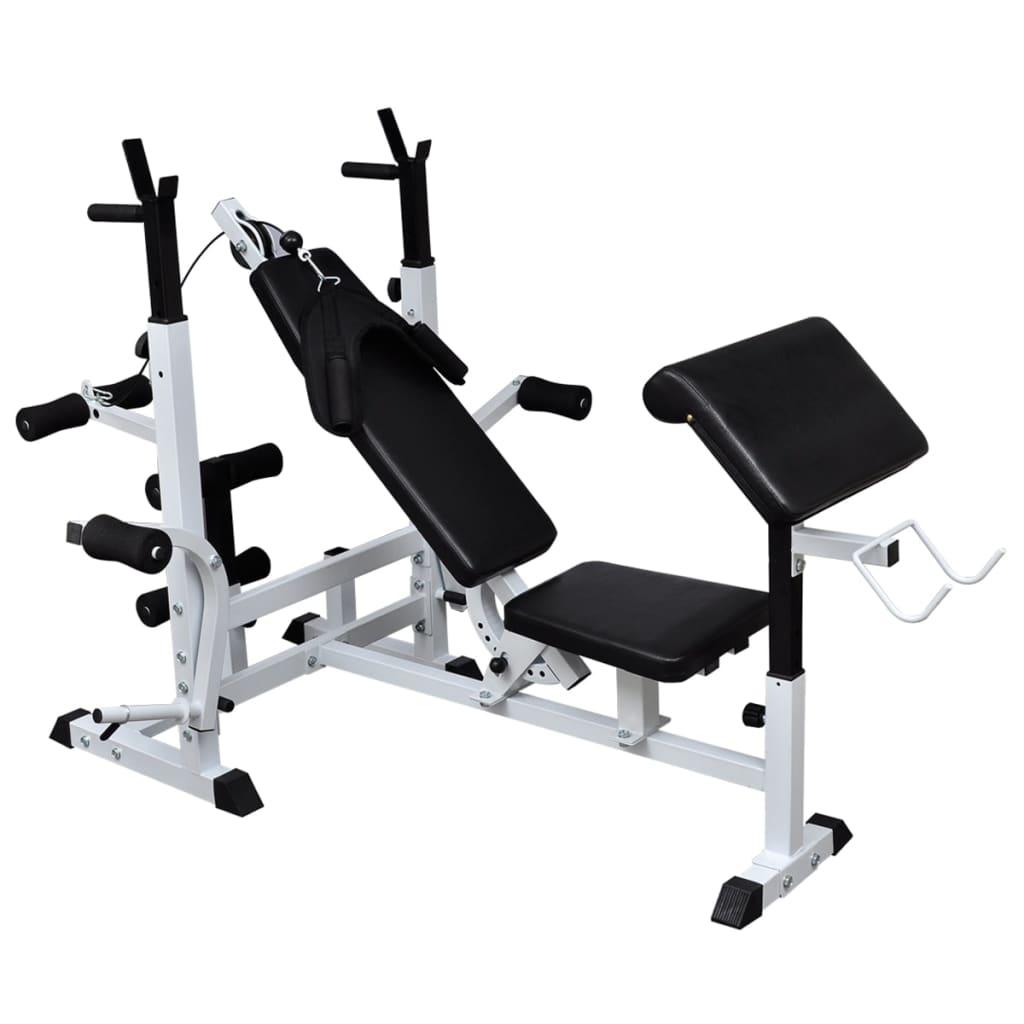 za vježbanje pojedinačnih mišića ili kombinirane vježbe za cijele skupine mišića. Potisak s klupe može tonirati mišiće ruku i prsa. Postaja za pregibe i leptire omogućuje definiciju ramena i ruku