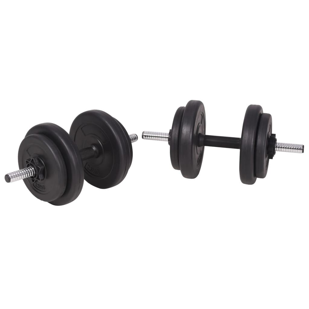 tricepse i leđne mišiće. Uključuje dvije ploče od 15 kg
