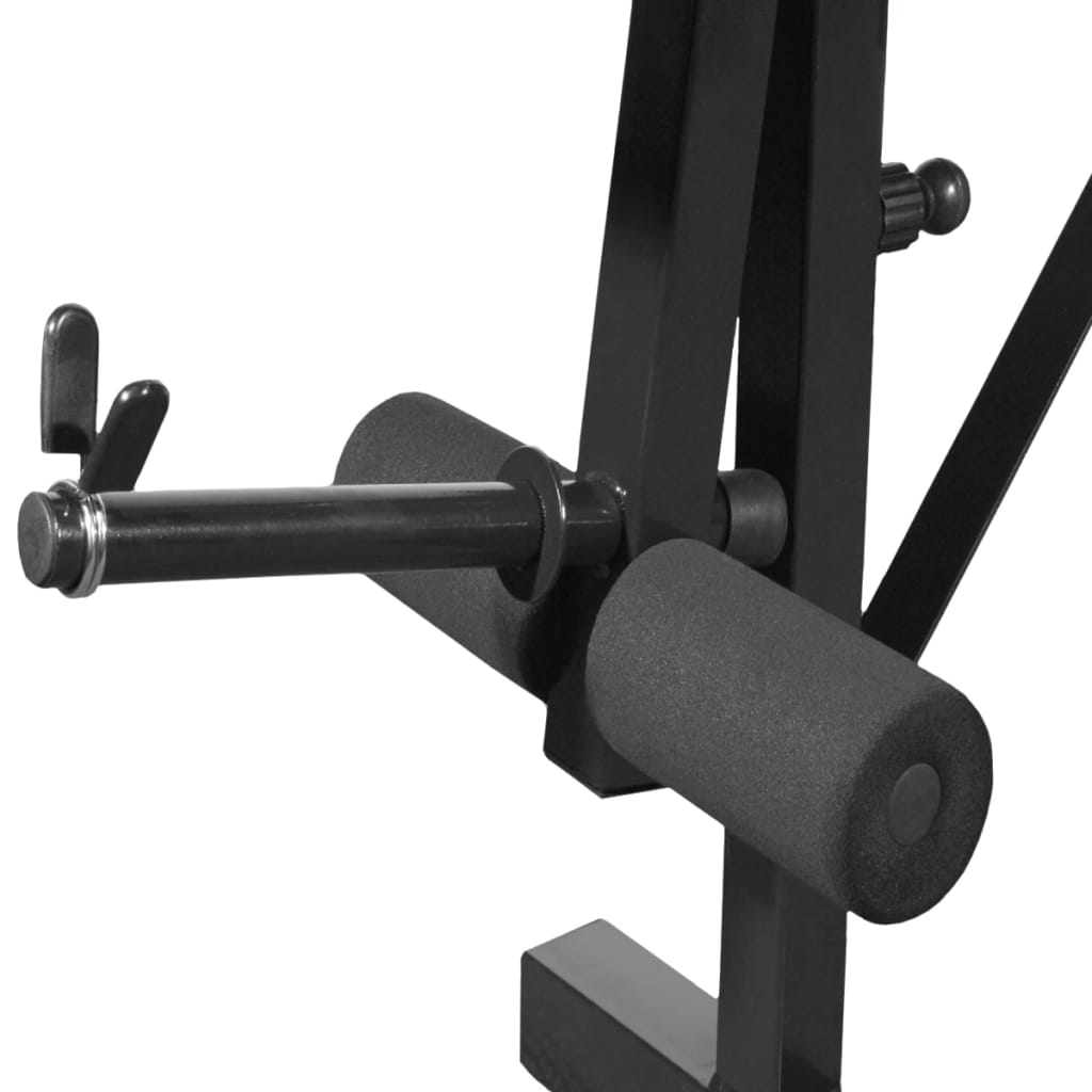 klupa za dizanje utega ima naslon za leđa s 4 nagiba